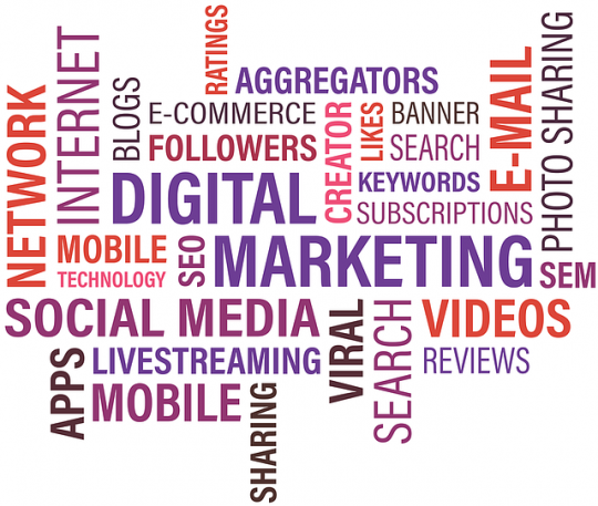 Social Media Marketing, SEO o Search Engine Optimization, SEM e Email Marketing